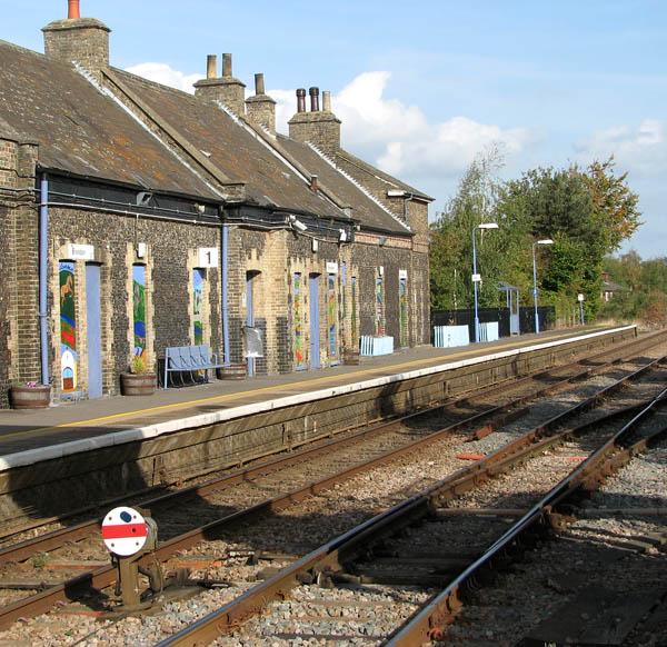 Brandon railway station - disk-type ground signal