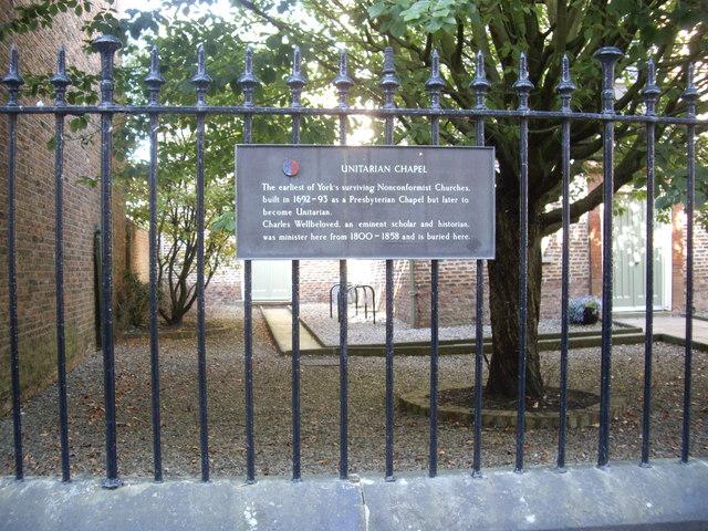 Unitarian Church plaque