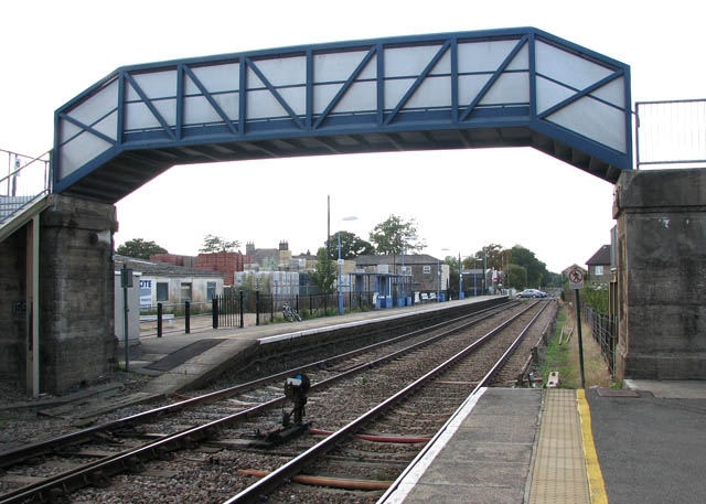 Brandon railway station - the footbridge