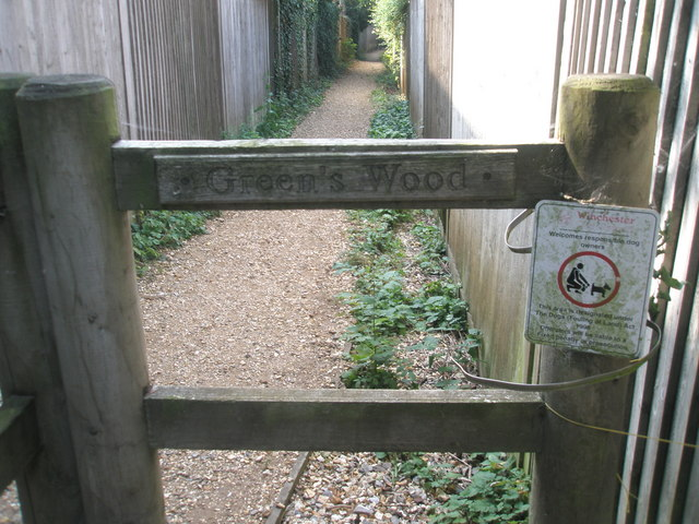 Start of path to Green's Wood