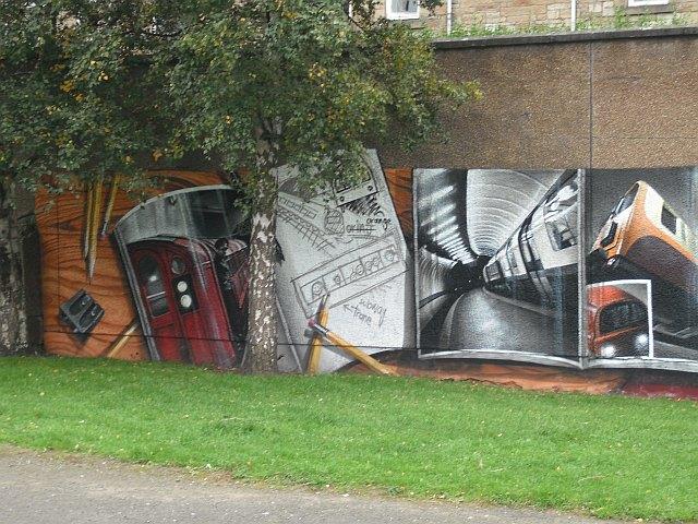 Mural, Kelvingrove Park. 1 - Subway