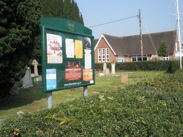 Looking across the churchyard towards the primary school