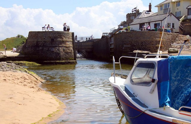 The lock to the Bude Canal