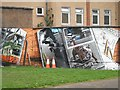 NS5766 : Mural, Kelvingrove Park. 4 - Skateboards by Richard Webb