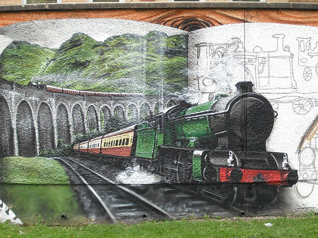 Mural, Kelvingrove Park. 5 - Glenfinnan Viaduct