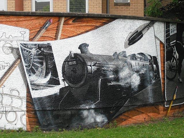 Mural, Kelvingrove Park. 6 - Strathspey Railway