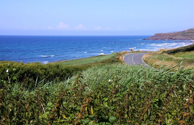 The road to Widemouth Bay