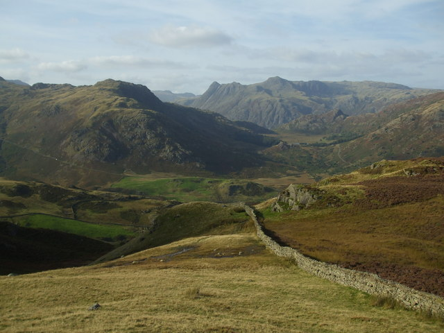 Wrynose Fell & Langdale Pikes across Greenburn