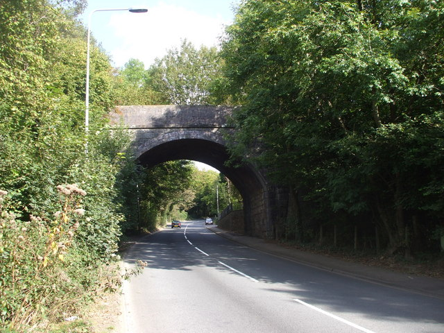 Bridge of dismantled railway over the A4119