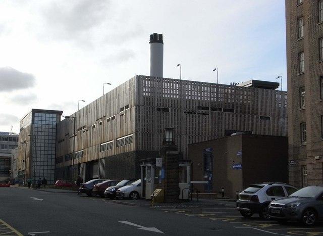 University Hospital Birmingham - boiler house and car park