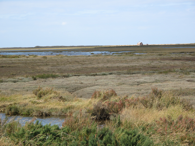 Saltmarshes and the Cley Channel from the Norfolk Coast Path