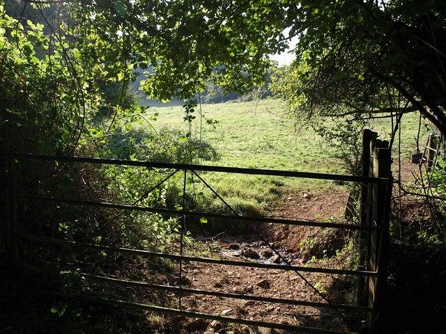 Gateway to field near Barberry Farm