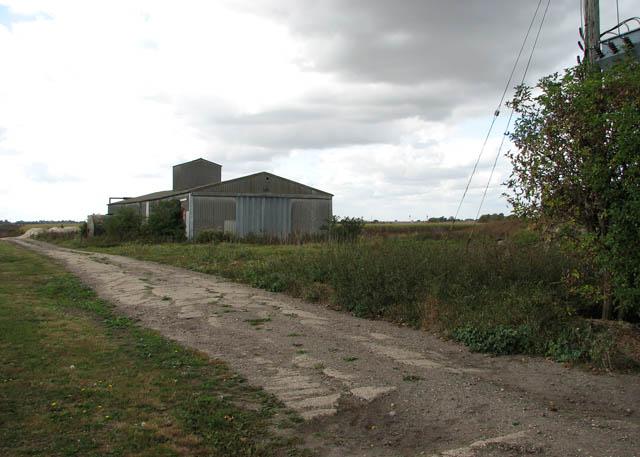 Farm shed by the former Sparrow Hall farmhouse