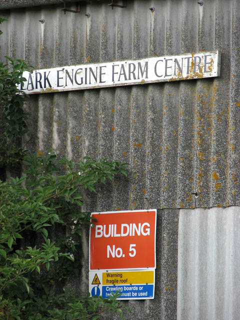 Signs on farm shed