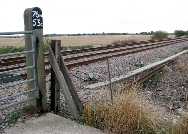 View across the railway line