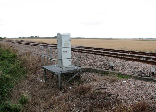 Relay box beside railway line
