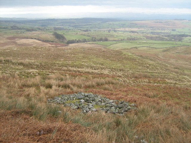 Ancient cairn on Bampton Common