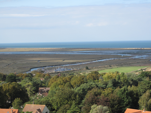 Blakeney Channel viewed from the top of St Nicholas Church