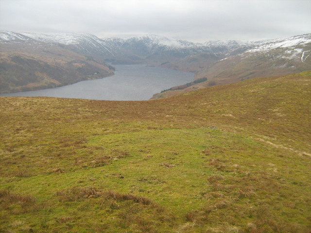 Bampton Common - looking down on Hawes Water