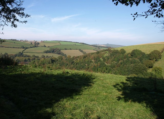 Field with view on Hothill lane