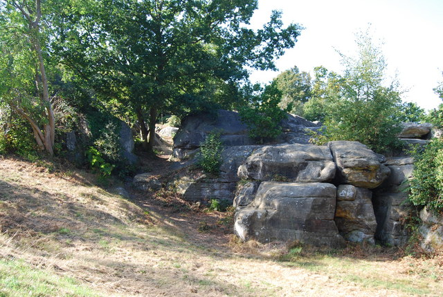 Outcrops of Tunbridge Wells Sandstone, Rusthall