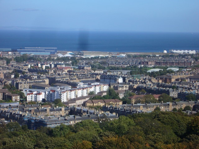 Nelson Monument view towards Seafield