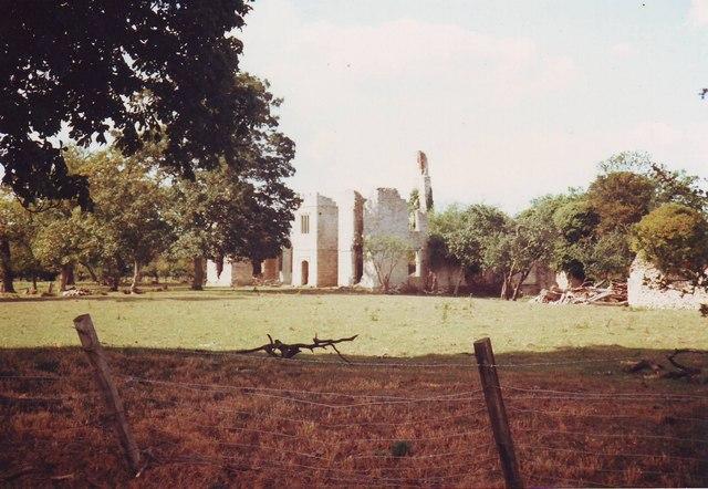Hampton Gay Manor ruins, near Hampton Poyle, Oxfordshire