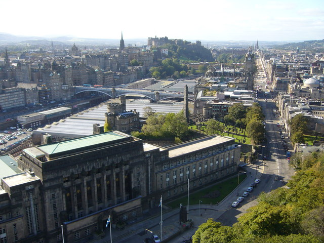 Nelson Monument view of St. Andrews House