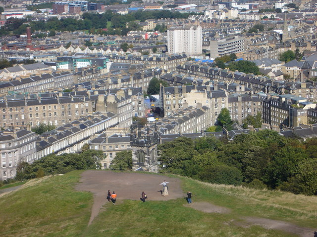 Nelson Monument view towards Pilrig