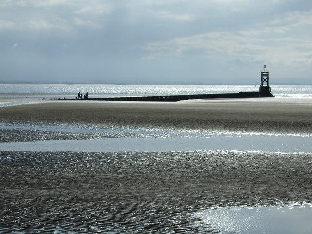 Crosby beach, outfall pipe.