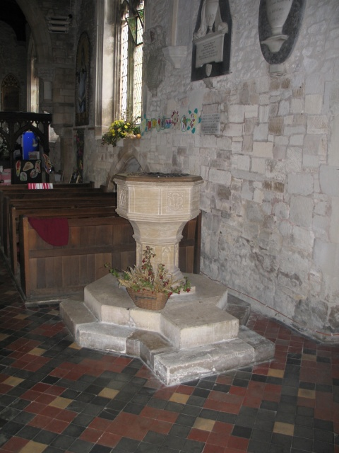 The Font, All Saints Church at Marsworth
