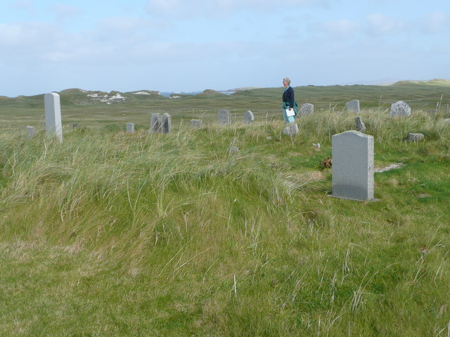 Machair and dunes from Solas graveyard