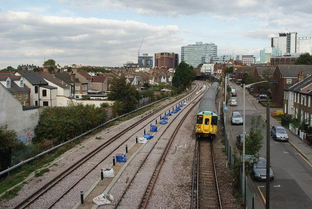 Railway Track Near West Croydon Station