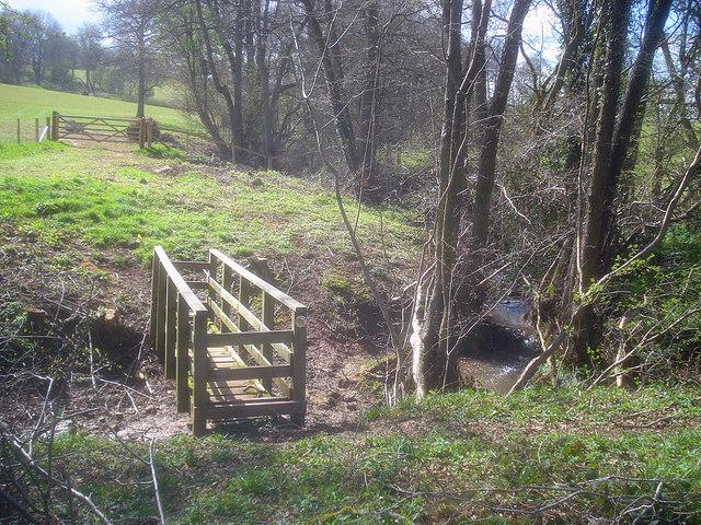 Footbridge near White Oak Hill