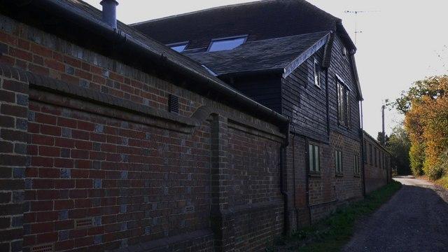Bridleway by Hall Place Farm