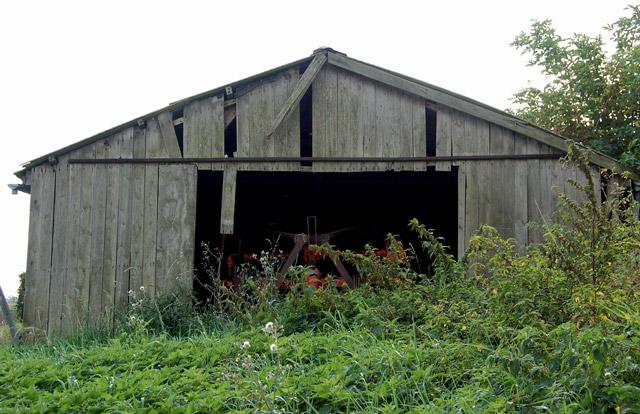 Derelict fenland farm shed
