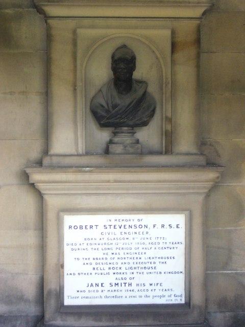 Robert Stevenson's grave, Regent Road Cemetery