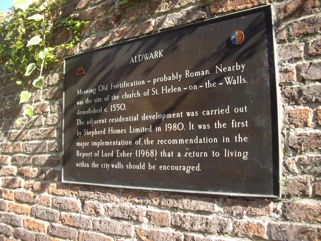 Aldwark plaque