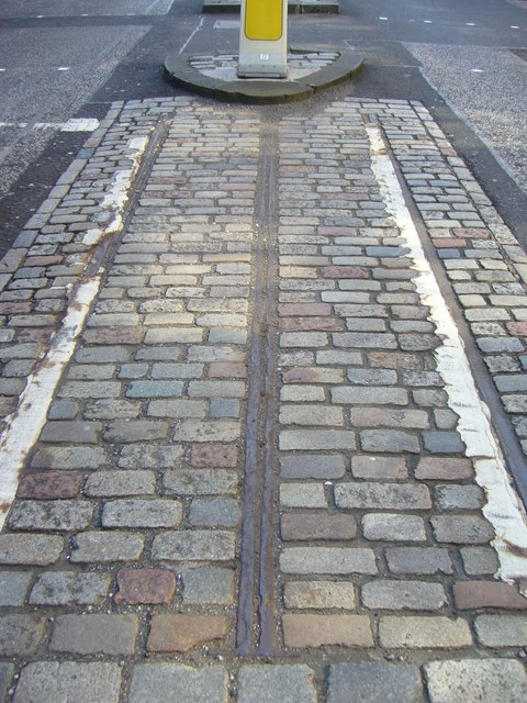 Cable car tracks, Waterloo Place