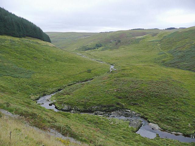 Afon Camddwr north of Soar-y-Mynydd, Ceredigion