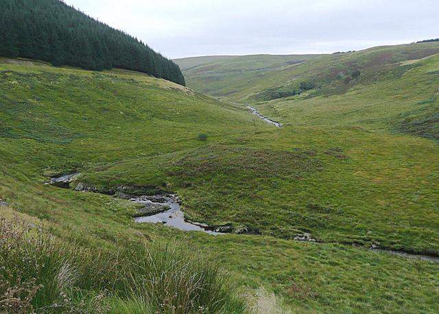 The Camddwr valley towards Soar-y-Mynydd, Ceredigion