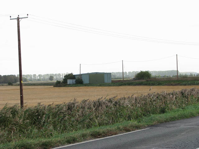 Farm shed beside the A1101