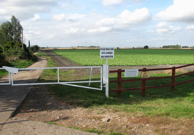 Gated private farm track