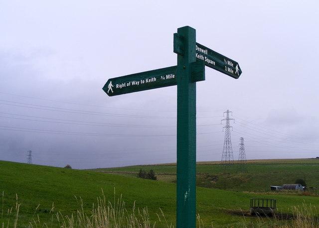 Signpost at Braehead