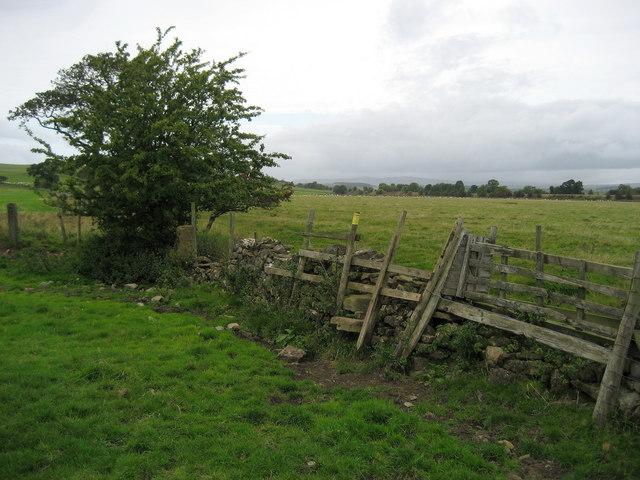 Stile near Broughton Copy Farm