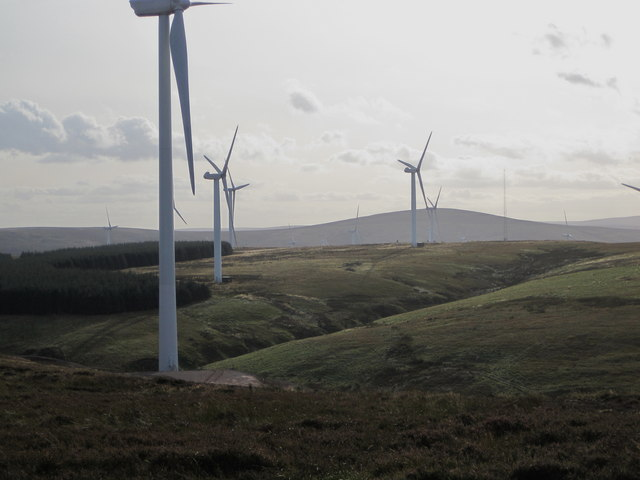 Two wind farms, Lammermuir Hills