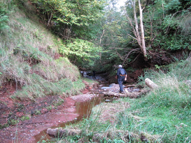 Aikengall Water in Sheeppath Glen