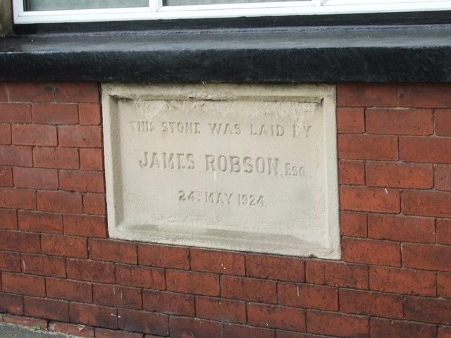 Memorial Hall foundation stone
