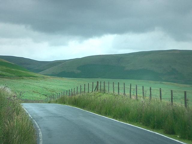 Road north east of Hirnant