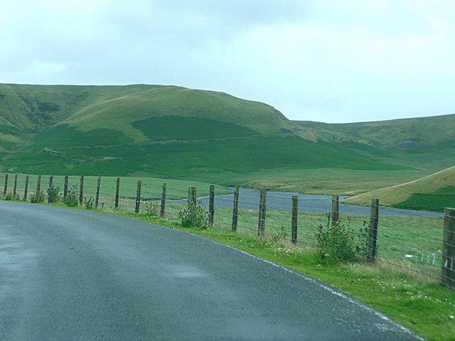 The northern end of Craig Goch reservoir